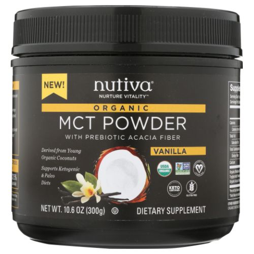Diligent Organic Mct Powder 10.6 Oz Vanilla By Nutiva Meticulous Dyeing Processes Vitamins & Dietary Supplements Health & Beauty